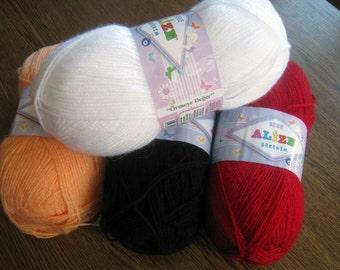 Baby yarn Sekerim,  Alize yarn, acrylic yarn, hypoallergenic yarn, yarn for kids, knitting yarn, crochet yarn, yarn for sale,
