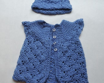 Fancy Sweater and Hat for Your Favorite Baby Girl