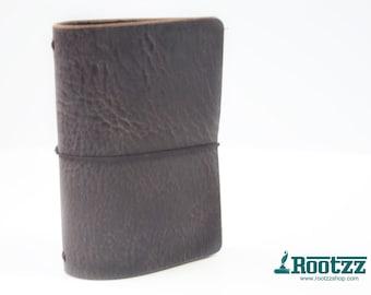 Passport Traveler's notebook brown leather - midori like- fauxdori