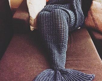 handcrafted crochet half-cocoon mermaid blanket