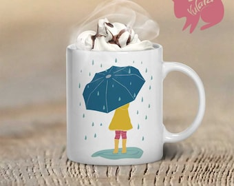 Rainy Day Mug, Coffee Mug