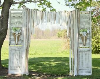 Pew Cones, Wedding Church Pew Cones, Church Aisle Decoration, Rustic Wedding