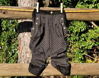 Polka dot baby girl pants harem pants