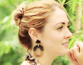 Buffalo Horn Earrings Organic 100% Handmade Jewelry E013
