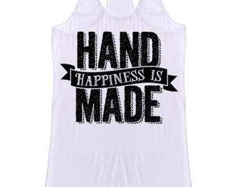Happiness is handmade tank