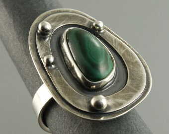 malachite ring, silver ring, malachite, green, malachite jewelery, silver ring, adjusable ring, silver 925,