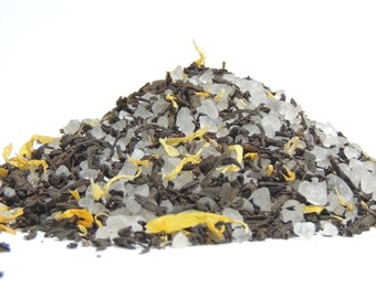 Black Tea Bath Salts! Dead Sea Bath Salt With Black Tea & Marigold.