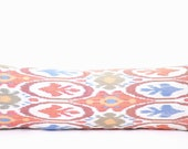 Bolster pillow Cover,Ikat Pillow cover, Lumbar ikat pillow, Body pillow, Bolster pillow, silk cotton ikat pillow, Ikat Pillow for couch sofa