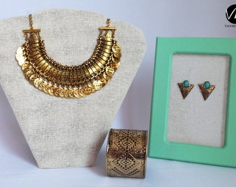 Vintage silver and gold coins necklace