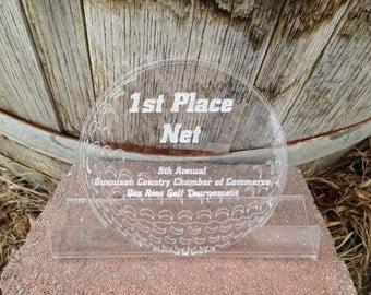 Custom Engraved Acrylic Golf Plaque, Award Plaque