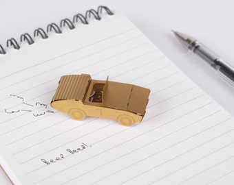 Miniature car gift - gold model kit