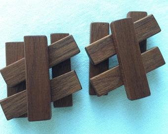 Mahogany Toy Blocks