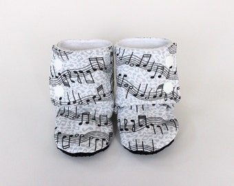 Music shoes, music baby shoes, music slippers, cute baby shoes, music baby clothes, instrument shoes, music baby booties