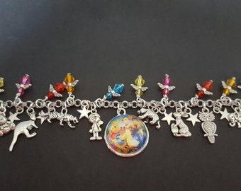 Winnie the pooh inspired charm bracelet