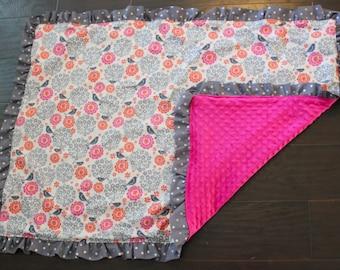 Ruffle Adalyn Blanket
