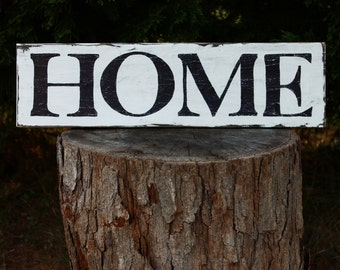 HOME sign, wood sign, distressed