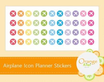 Airplane Sticker, Travel Stickers, Planner Stickers, Erin Condren Life Planner, Plum Paper, Filofax, Icon Sticker