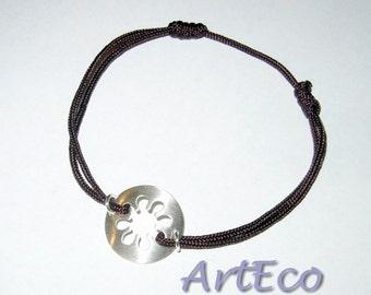Celebrity Cord Silver Bracelet