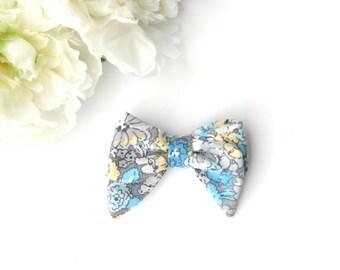Floral Bow- Teal Spring- Nylon Headband-Babybow