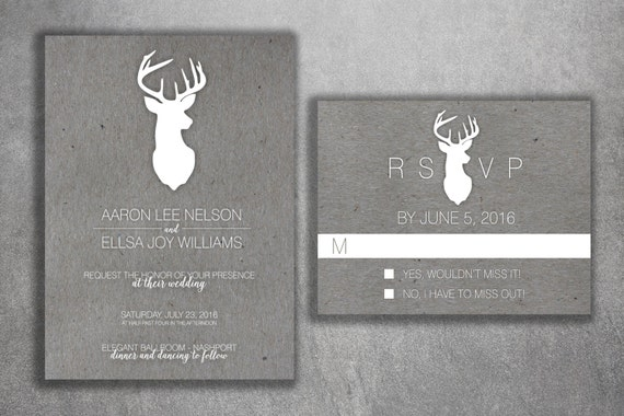 Cheap Country Wedding Invitations: Country Wedding Invitations Set Printed Cheap Wedding