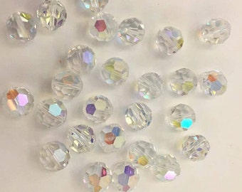 Swarovski Crystal AB beads/set 10 Beads rhinestones
