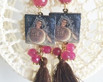 Sicilian colorful earrings