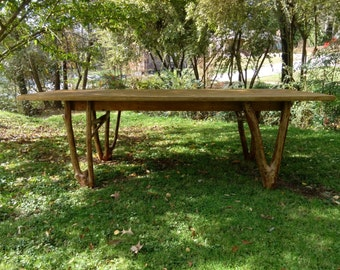 Table handmade in Greenville, SC - Pine and Crepe Myrtle.