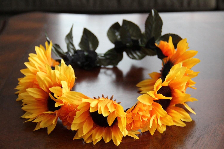 Sunflower chaplet flower crown sunflower headband sunflower crown sunflower chaplet flower crown sunflower headband sunflower crown sunflower headdressgift izmirmasajfo