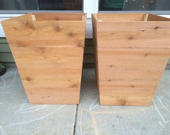 Tapered Cedar Planter Box