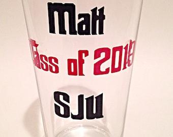 Graduation beer glass, graduation pint glass, custom graduation beer glass