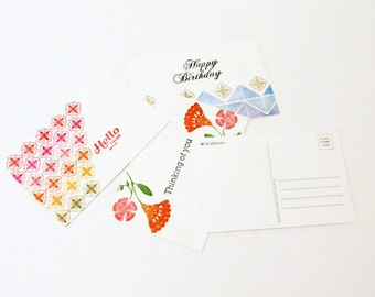 Greeting Cards, Boho Postcards. Stationary Gift Set, Snail Mail, All Occasion Card Set