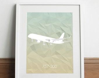 Boeing 757-300 Aircraft - Art print