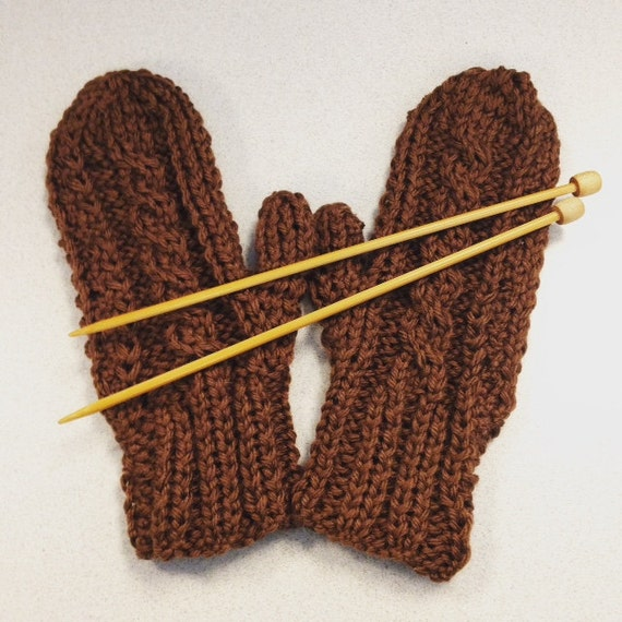 Knitting Mittens With Straight Needles : Cabled mittens on straight needles knitting pattern