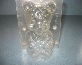 Sitting Teddy Bear Vintage Plastic Candy Mold