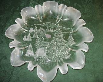 Mikasa Germany Winter Scene Decorative Plate