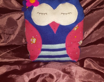 cute owl cushion pillow