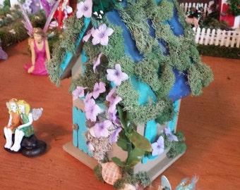 Teal Flower Fairy Cottage