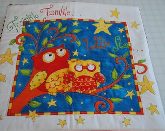 Baby Quilt, Baby Blanket, Nursery Rhyme Quilt, Patty Cake, Twinkle Twinkle, Cotton Quilt