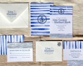 Nautical Wedding Invitation Suite Sample