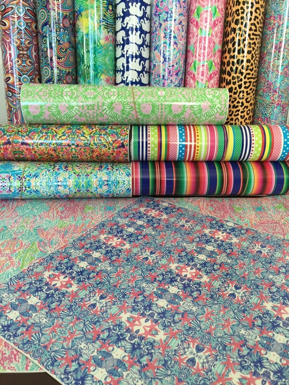 Beautiful Vibrant Patterned Craft Vinyl And By