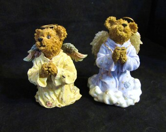 Two Bearstone Collection Boyds Bears & Friends 1) Glory B. Angelfaith and 2) Faith Figurines
