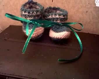newborn alpaca baby booties
