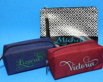 Personalized Cosmetic Bag Bridesmaid Gift