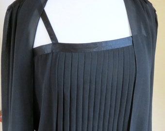 Vintage Pierre Cardin Black Two Piece Evening Jacket and Top - Size 10 UK