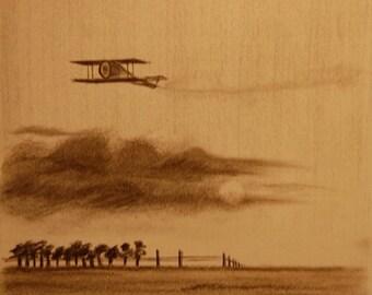 Biplane Series - Art Print 8x11