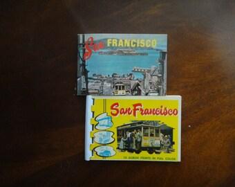 Vintage San Francisco  Photo Album Prints booklets Souvenir 1950's Color Photographs Tourism Collectable California Memorabilia
