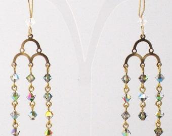 Levidia Earrings with Swarovski Crystal