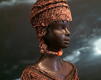African Lady - Fabric Figurine
