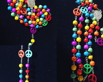 Handmade Gay Pride Rosary