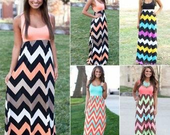 Chevoron maxi dresses